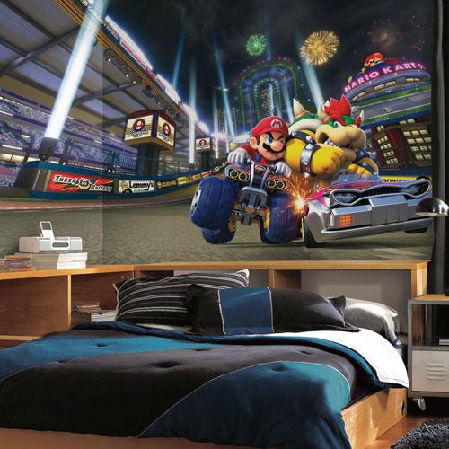 RoomMates Mario Kart 8 6' x 10.5' Wallpaper Mural