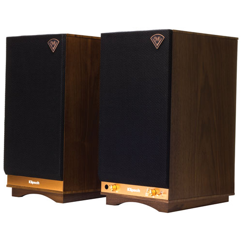 Klipsch The Sixes Heritage 100-Watt Wireless Speaker - Pair - Walnut