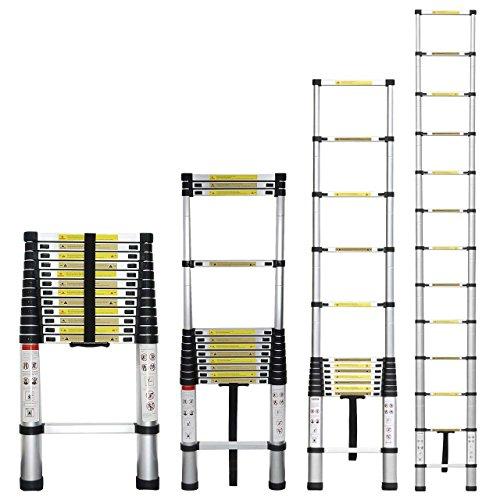 Extend Ladder 12 5 : Stanz tm portable feet aluminum telescoping