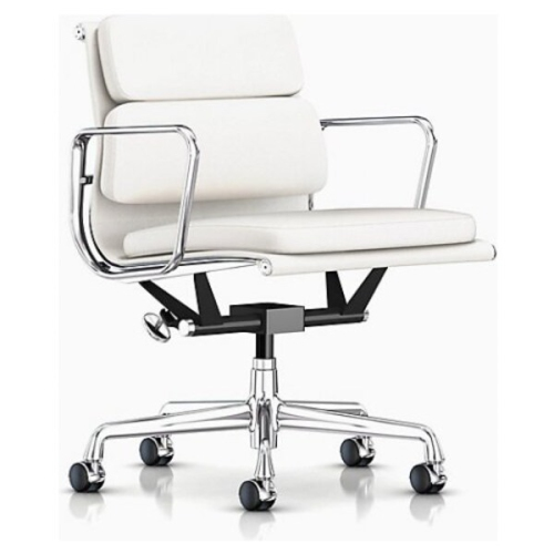 Eames Management Genuine Leather Soft Pad Low Back Office Executive Chair White Best Buy Canada