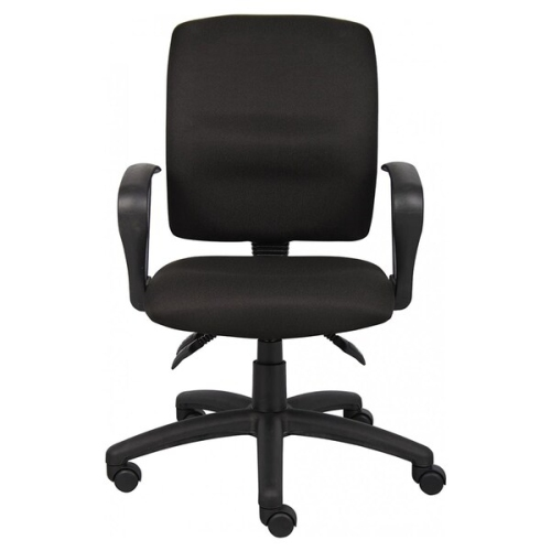 OCC Multil-Function Task Chair Computer Desk chair-Middle Back Ergonomic Office Chair- Black Fabric with Adjustable Loop Arms - Online Only  sc 1 th 225 & OCC Multil-Function Task Chair Computer Desk chair-Middle Back ...
