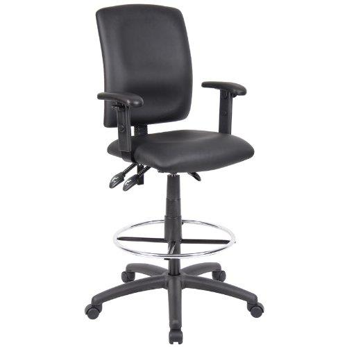 multi function leather drafting chair adjustable t arms ergonomic