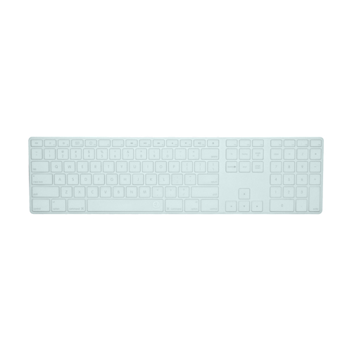 EZQuest Clear Invisible Ice Keyboard Cover for Apple Ultra-Thin Wired w/Numeric Keypad, English (X22309)