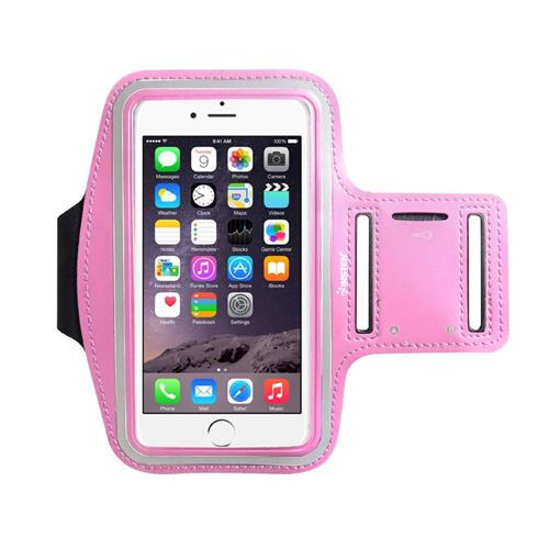 "Insten Universal Sports Armband 5.67"" x 3.14"" with Key Holder, Pink"