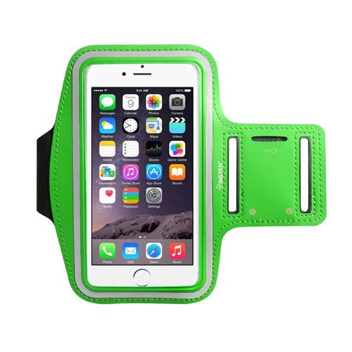 """Insten Universal Sports Armband 6.49"""" x 3.74"""" with Key Holder, Green"""