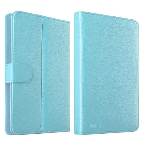 Insten Stand Leather Case compatible with 7-inch tablet, Baby Blue