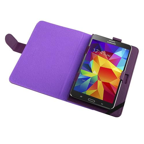 Insten Stand Leather Case compatible with 7-inch tablet, Purple