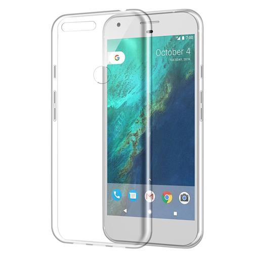 Insten Rubber Cover Case For Google Pixel XL, Clear