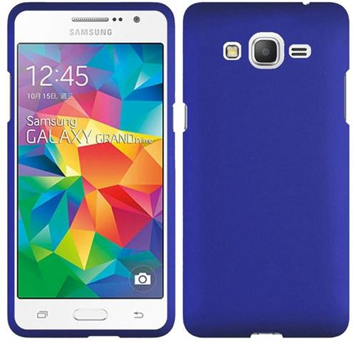 Insten Hard Rubber Coated Case For Samsung Galaxy Grand Prime, Blue