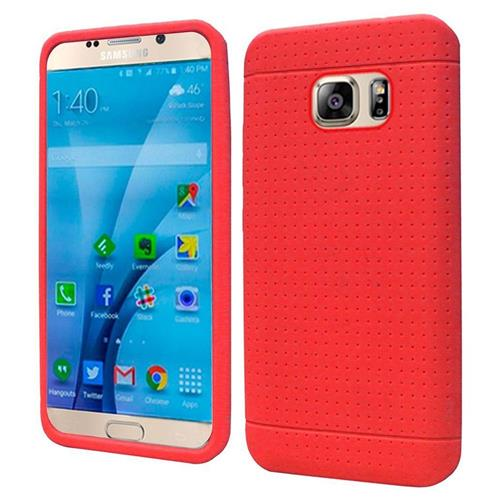 Insten Rugged Gel Rubber Cover Case For Samsung Galaxy S7, Red