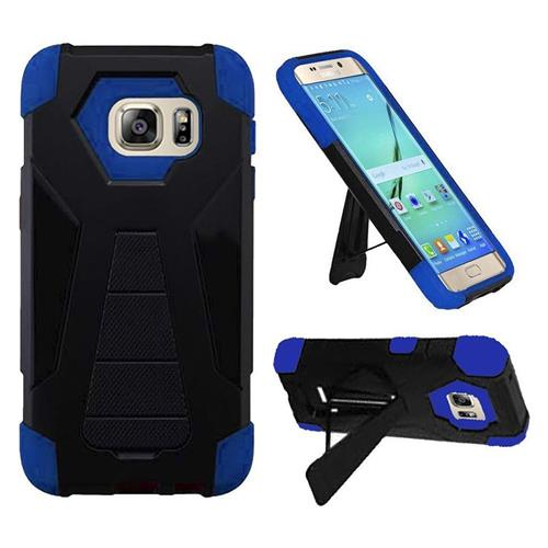 Insten Hard Hybrid Plastic Silicone Case w/stand For Samsung Galaxy S7 Edge, Black/Blue