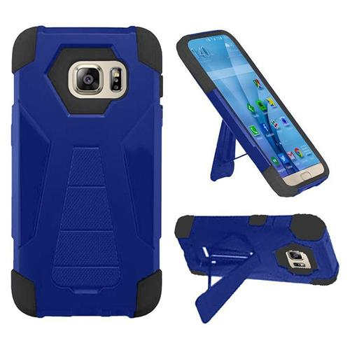 Insten Hard Dual Layer Plastic Silicone Cover Case w/stand For Samsung Galaxy S7, Blue/Black