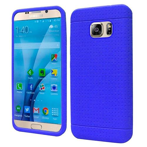 Insten Rugged Gel Rubber Cover Case For Samsung Galaxy S7, Blue