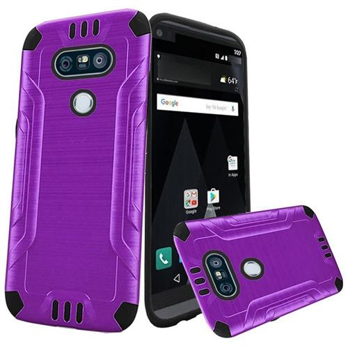 Insten Hard Hybrid TPU Cover Case For LG V20, Purple/Black