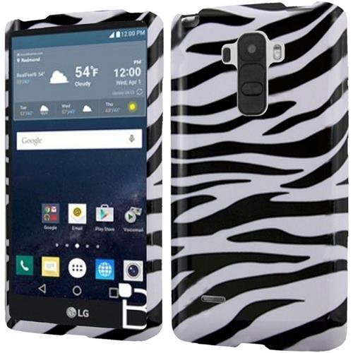 Insten Zebra Hard Rubberized Cover Case For LG G Stylo, Black/White