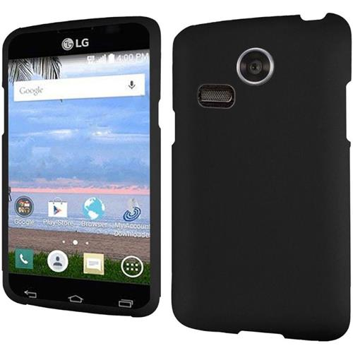 Insten Hard Rubberized Cover Case For LG Lucky/Sunrise, Black