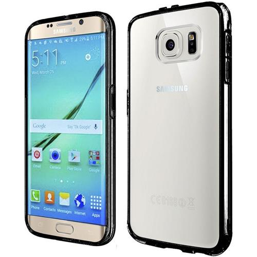 Insten Hard Dual Layer Crystal TPU Bumper Case For Samsung Galaxy S7 Edge, Clear/Black