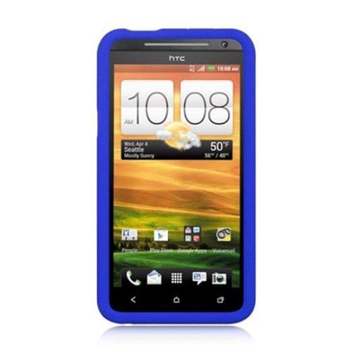 Insten Rubber Cover Case For HTC EVO 4G, Blue