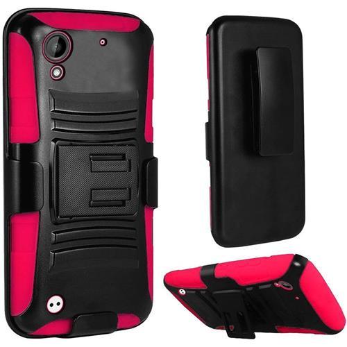Insten Holster Case for HTC Desire 530 - Hot Pink;Black