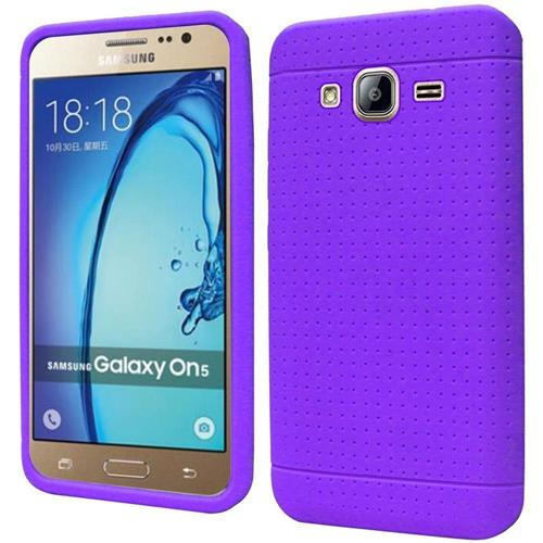Insten Rugged Soft Rubber Cover Case For Samsung Galaxy On5, Purple