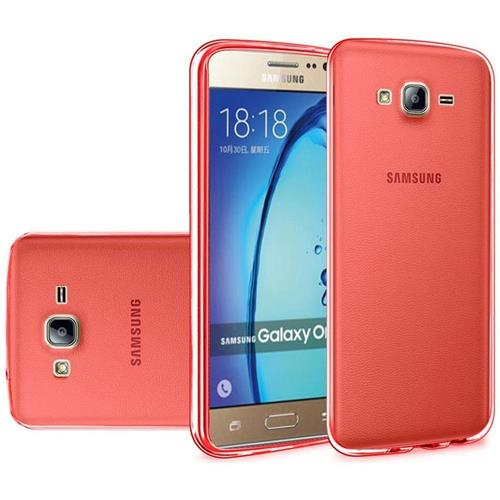 Insten Frosted Rubber Case For Samsung Galaxy On5, Red