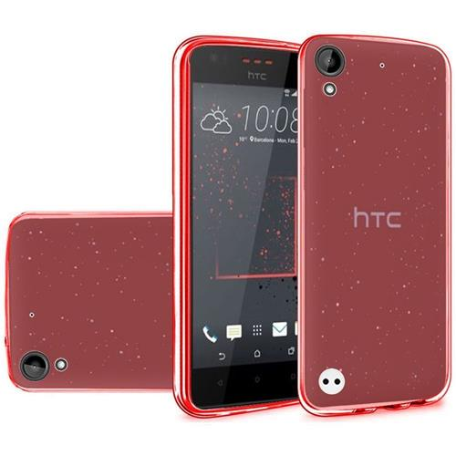Insten Frosted Gel Cover Case For HTC Desire 530/550/555, Red