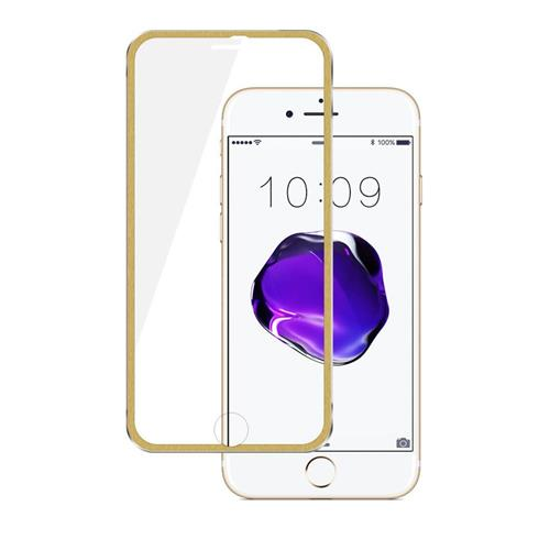 Insten 0.33mm Clear Tempered Glass LCD Screen Protector Film For Apple iPhone 7 Plus/8 Plus, Gold