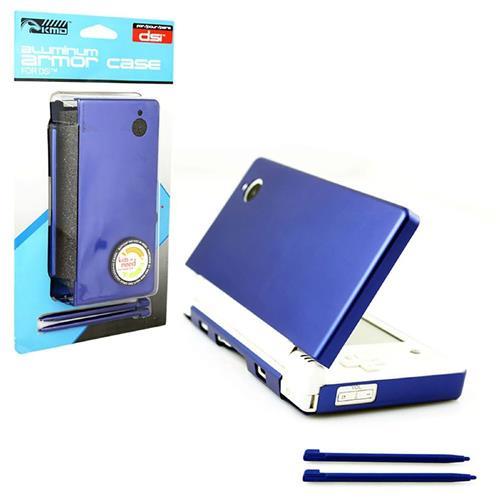 KMD Aluminum Armor Case Dual Stylus Set For Nintendo DSi, Aqua Blue