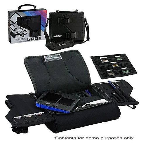 G-Pak Universal Organizer Carry Case For iPhone Nintendo New 3DS XL/2DS, Black