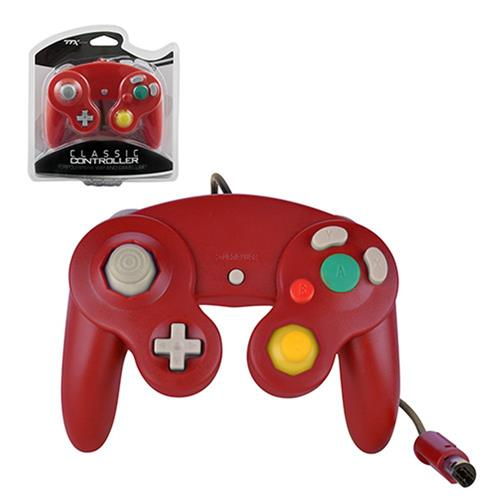TTX Tech Wired Controller For Nintendo GameCube System Red