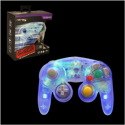 Retrolink Wired Gamecube Style USB Controller for PC MAC, Blue LED