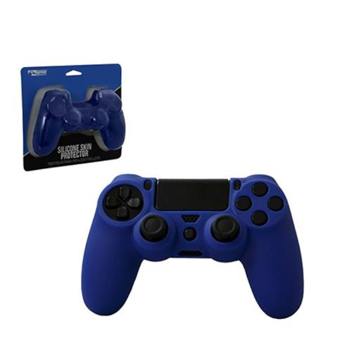 KMD Controller Silicone Grip Case For Sony PlayStation 4, Blue