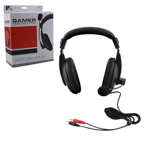 KMD 8.4 Feet Wired Professional Gaming Headset With Microphone Black