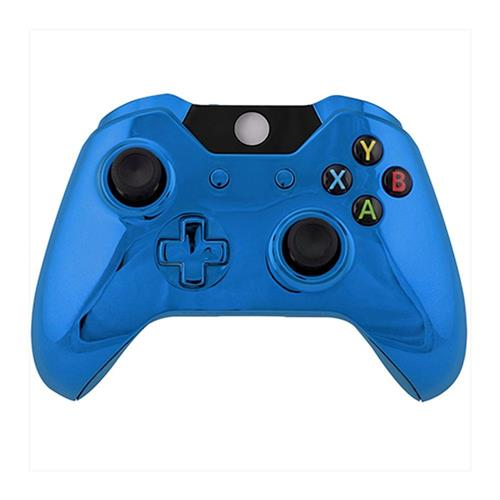Game Bully Xbox One Controller Repair Part - Full Housing Shell, Chrome Blue