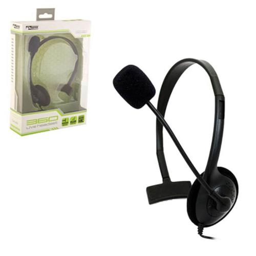 KMD Live Chat Headset with Mic Headset For Microsoft Xbox 360, Black Small