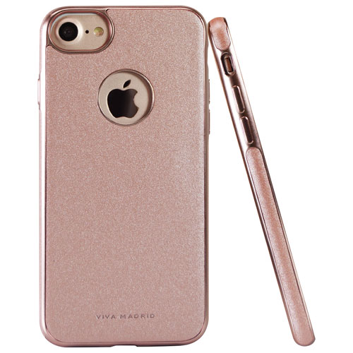 Étui souple ajusté Mirada Destello de Viva Madrid pour iPhone 7/8 - Rose doré