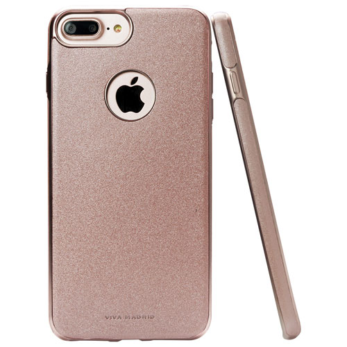 Viva Madrid Mirada Destello iPhone 7/8 Plus Fitted Soft Shell Case - Rose Gold