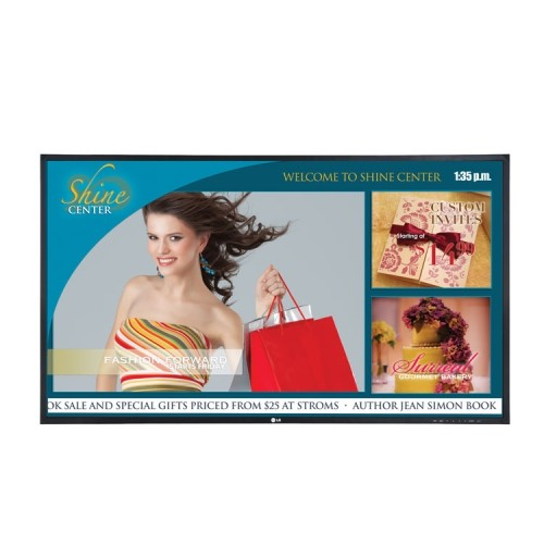 "LG 54.6"" FHD 60 Hz 9 ms GTG LCD Commercial Display - Black - (55VS20-BAA.AUS)"
