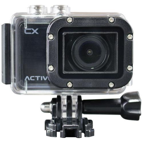Caméra HD étanche pour sports et casque CX d'ACTOVEON - Onyx