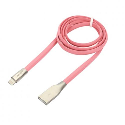 Pisen 1000mm zinc alloy lightning cable_Pink Color (AL08-1000PK)