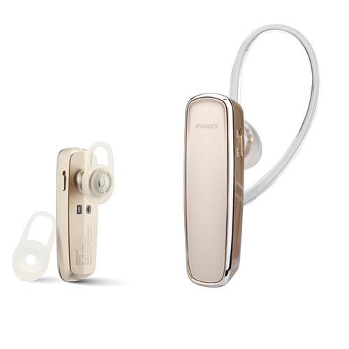 Pisen LE002 Plus Hi-Fi Noise Canceling Earplug Type Stereo Bluetooth V4.0 Headphone with Mic_Gold Color