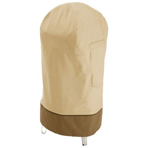 "Classic Accessories Veranda Water Resistant Round Smoker Cover - 19"" x 39"" x 19"" - Beige"