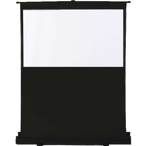"""Antra 92'' 16:9 Toile de Projection de Plancher Portable Compacte et Mobile """"Pneumatique"""" Blanc Mat Gain 1.2 Compatible 3D HDTV 1080p"""