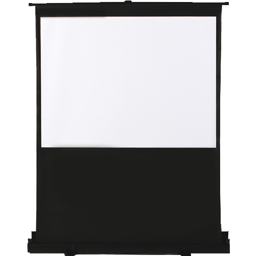 """Antra 80"""" 4:3 Floor Popup """"Air-Lift"""" Mobile Compact Portable projection screen Matte White 1.2 Gain"""