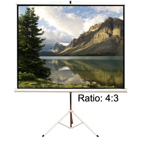 "Antra 100"" Tripod Mobile Compact Portable Projection Screen 4:3 Matte White 1.0 Gain"