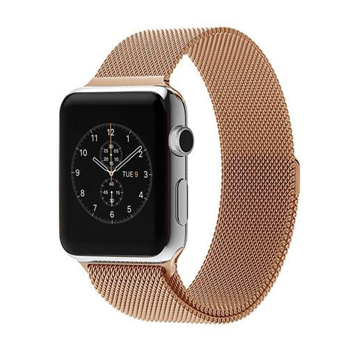 a41c4d542c8 StrapsCo Rose Gold Stainless Steel Milanese Mesh Loop for 38mm Apple Watch  Strap - Online Only