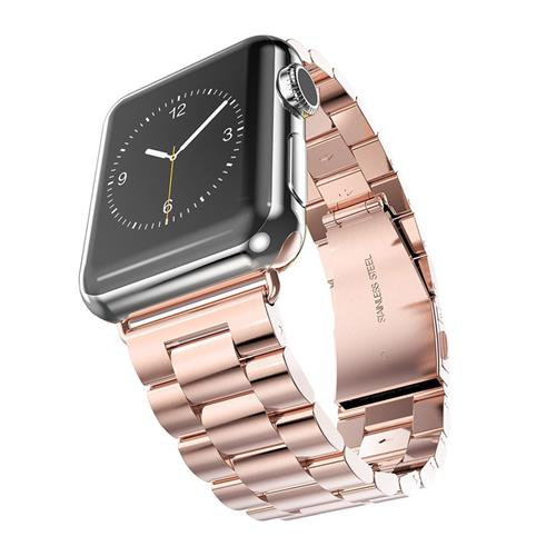 Strapsco rose gold solid stainless steel band for 42mm apple watch apple watch bands straps for Rose gold apple watch