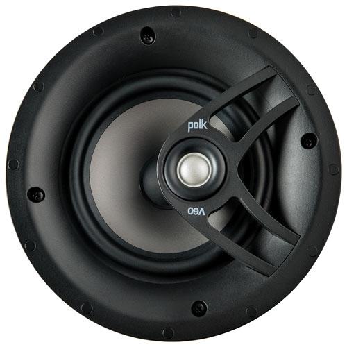 Haut-parleur de plafond à 2 voies de 6,5 po et 100 W V60 de Polk Audio - Unité - Blanc