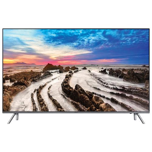 Téléviseur intelligent Tizen HDR DEL UHD 4K de 55 po de Samsung (UN55MU8000FXZC) - Gris