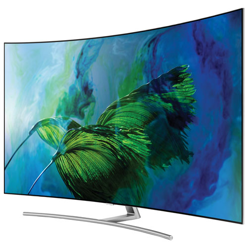 "Samsung 55"" 4K UHD HDR Curved QLED Tizen Smart TV (QN55Q8CAMFXZC) - Sterling Silver"